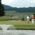 Pian Cansiglio (Farra d'Alpago), 28 luglio 2007. Il campo da golf a 18 buche.